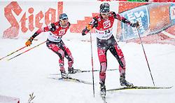 31.01.2016, Casino Arena, Seefeld, AUT, FIS Weltcup Nordische Kombination, Seefeld Triple, Langlauf, im Bild vl.: Wilhelm Denifl (AUT), Philipp Orter (AUT) // f.l.: Wilhelm Denifl of Austria and Philipp Orter of Austria competes during 15km Cross Country Gundersen Race of the FIS Nordic Combined World Cup Seefeld Triple at the Casino Arena in Seefeld, Austria on 2016/01/31. EXPA Pictures © 2016, PhotoCredit: EXPA/ Jakob Gruber