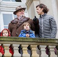 Copenhagen, 06-11-2016 <br /> <br /> Prince Henrik and his Grand Children, Prince Nikolai and Prince Felix. Prins . Prince Henrik and Prinsess Athena attend the Hubertus Hunt at Dyrehaven.<br /> <br /> <br /> COPYRIGHT ROYALPORTRAITS EUROPE/ BERNARD RUEBSAMEN