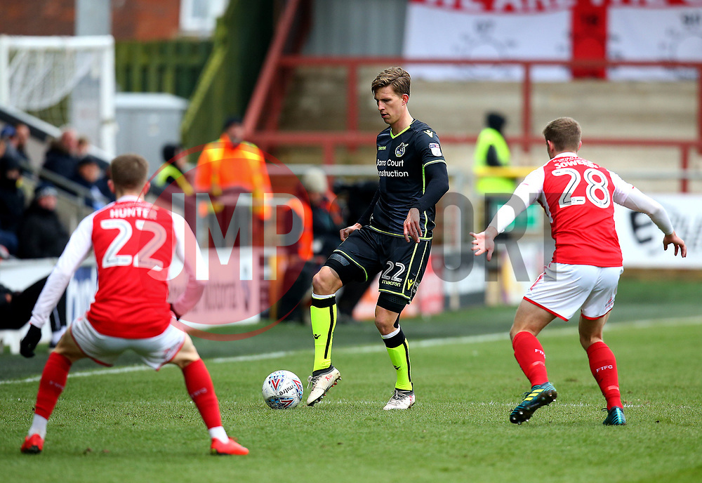 Joe Partington of Bristol Rovers in action at Highbury - Mandatory by-line: Robbie Stephenson/JMP - 02/04/2018 - FOOTBALL - Highbury Stadium - Fleetwood, England - Fleetwood Town v Bristol Rovers - Sky Bet League One