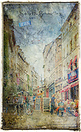 Rue de Rollebeek, Sablon, Brussels, Belgium - Forgotten Postcard digital art collage