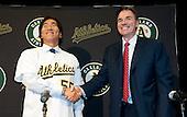 20101214 - Oakland Athletics Hideki Matsui Press Conference