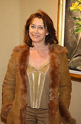 Actress CHERIE LUNGHI at a private view of paintings by singer Tony Bennett held at the catto Gallery, 100 Heath Street, London NW3 on 5th April 2005.<br />