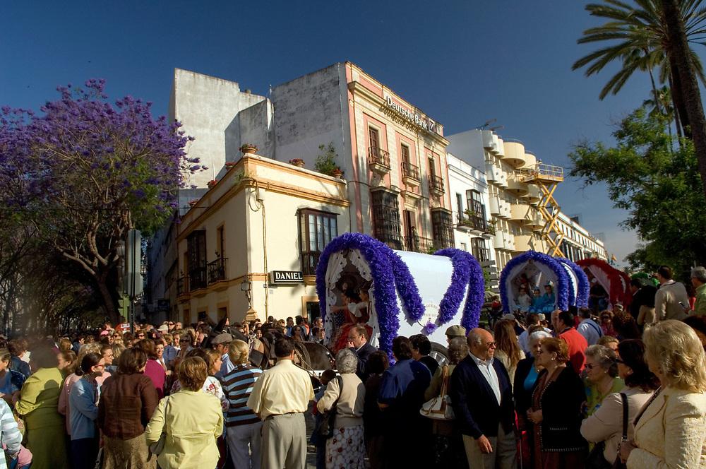 SPAIN: Andalucia.<br /> El Rocio festival  in Jerez de la Frontera