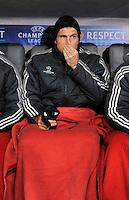 FUSSBALL  CHAMPIONS LEAGUE  ACHTELFINALE  HINSPIEL  2012/2013      FC Bayern Muenchen - FC Arsenal London     13.03.2013 Nur auf der Ersatzbank: Mario Gomez (FC Bayern Muenchen)