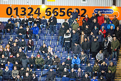 South stand. Falkirk 2 v 0 Livingston, Scottish Championship game played 29/12/2015 at The Falkirk Stadium.