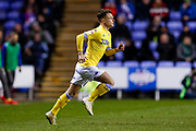 Leeds United midfielder Jamie Shackleton (46) comes off the bench to replace Leeds United forward Tyler Roberts (11)  during the EFL Sky Bet Championship match between Reading and Leeds United at the Madejski Stadium, Reading, England on 12 March 2019.