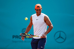 May 7, 2019 - Madrid, Spain - RAFAEL NADAL of Spain during a practice session at the Mutua Madrid Open 2019 (ATP Masters 1000 and WTA Premier) tennis tournament at Caja Magica in Madrid, Spain. (Credit Image: © AFP7 via ZUMA Wire)