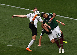 MOSCOW, June 17, 2018  Julian Draxler (L) of Germany competes during a group F match between Germany and Mexico at the 2018 FIFA World Cup in Moscow, Russia, June 17, 2018. (Credit Image: © Wang Yuguo/Xinhua via ZUMA Wire)