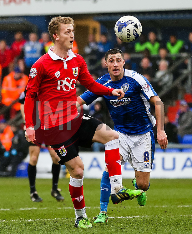 Bristol City's George Saville in action - Photo mandatory by-line: Matt McNulty/JMP - Mobile: 07966 386802 - 03/04/2015 - SPORT - Football - Oldham - Boundary Park - Oldham Athletic v Bristol City - Sky Bet League One