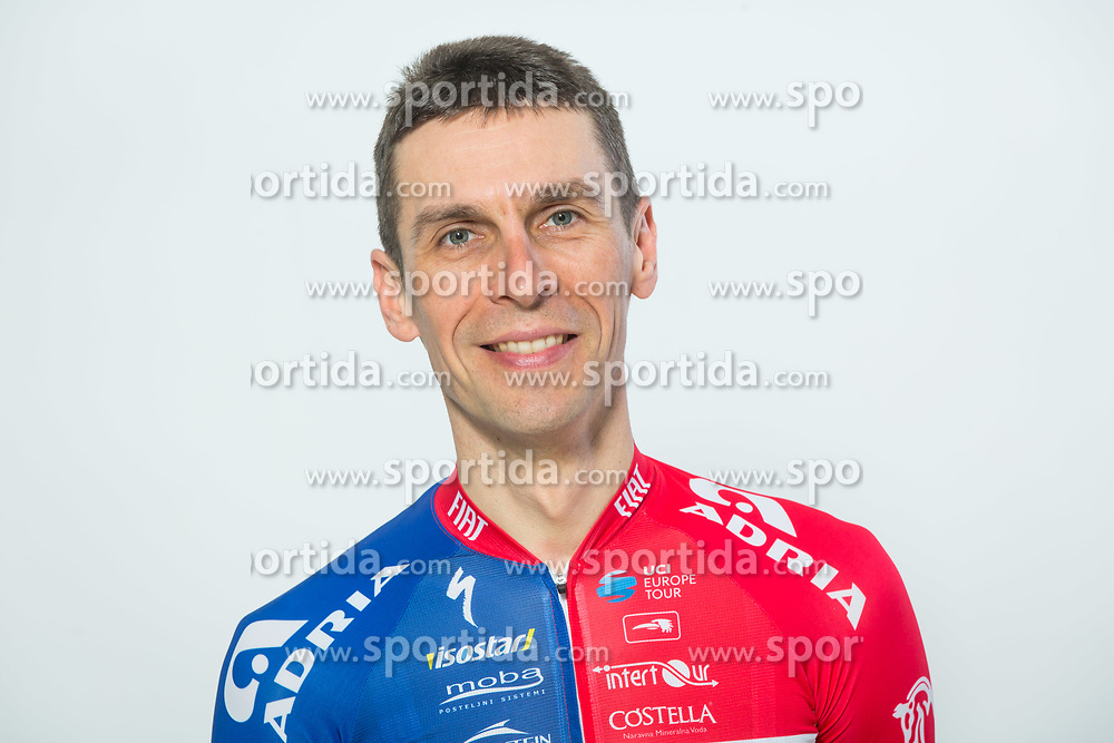 Radoslav Rogina during photo session of Cycling Team KK Adria Mobil, on January 22, 2018 in Novo Mesto, Novo Mesto, Slovenia. Photo by Vid Ponikvar / Sportida
