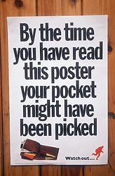 Crime prevention poster,