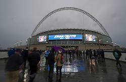 Wembley Stadium displays a Tribute to the footballer Johan Cruyff  - Mandatory by-line: Alex James/JMP - 29/03/2016 - FOOTBALL - Wembley Stadium - London, United Kingdom - England v Netherlands - International Friendly