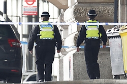 © Licensed to London News Pictures. 05/03/2019. London, UK.The scene at Waterloo Station as police deal with a suspicious package. Earlier reports said the station has been evacuated, but police state that trains are running as normal.  Photo credit: Peter Macdiarmid/LNP