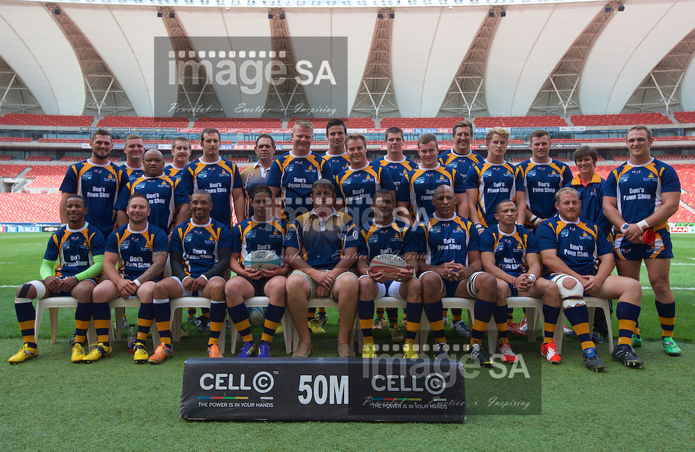 PORT ELIZABETH, SOUTH AFRICA - Saturday 14 March 2015, Don's Pawn Shop Port Elizabeth Police team photo during the fourth round match of the Cell C Community Cup between Don's Pawn Shop Port Elizabeth Police and Durbanville-Bellville at the Nelson Mandela Bay stadium.<br />