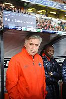 FOOTBALL - FRENCH CUP 2011/2012 - 1/32 FINAL - LOCMINE v PARIS SAINT GERMAIN - 8/01/2012 - PHOTO PASCAL ALLEE / DPPI - THE NEW HEAD COACH OF PARIS CARLO ANCELOTTI