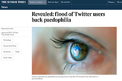 The Sunday Times; Twitter reflected in eye