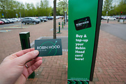 A Robin Hood pay-as-you-go card that can be used on buses and trams in Nottingham, Nottinghamshire, United Kingdom.  (photo by Andrew Aitchison / In pictures via Getty Images)