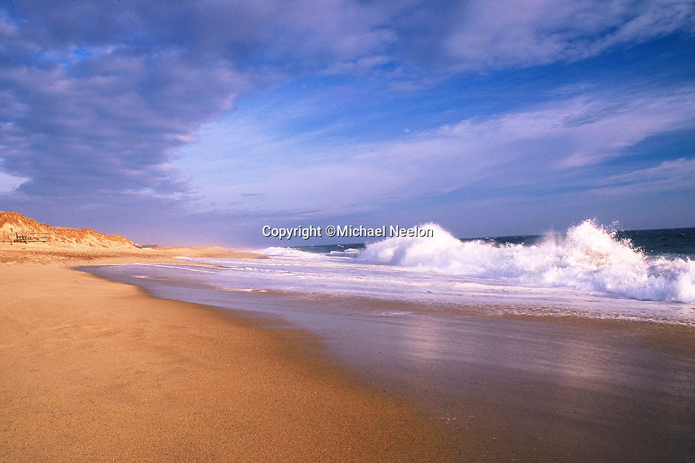 Surf at Nauset Beach, part of the Cape Cod National Seashore, Orleans, Cape Cod