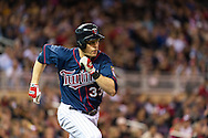 Justin Morneau #33 of the Minnesota Twins runs to 1st base during a game against the Chicago White Sox on May 13, 2013 at Target Field in Minneapolis, Minnesota.  The Twins defeated the White Sox 10 to 3.  Photo: Ben Krause