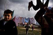 Albanian children playing in Mitrovica...Mitrovica, February 15, 2009.