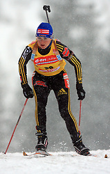 Martina Beck (GER) at Women 15 km Individual at E.ON Ruhrgas IBU World Cup Biathlon in Hochfilzen (replacement Pokljuka), on December 18, 2008, in Hochfilzen, Austria. (Photo by Vid Ponikvar / Sportida)