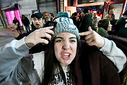 Fans in Philadelphia, PA, USA celebrate as the Philadelphia Eagles win the Super Bowl LII, on 04 February 2018. The Eagles are facing the New England Patriots at U.S. Bank Stadium in Minneapolis, Minnesota, USA.