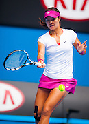 Li Na (CHN) faced F. Pennetta (ITA) in Women's Singles play in Day 9 of the Australian Open. Li Na won the match 6-2, 6-2  on center court at Melbourne's Rod Laver Arena.