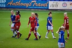 BIRKENHEAD, ENGLAND - Sunday, April 29, 2018: Liverpool's Sophie Ingle and Everton's Angharad James during the FA Women's Super League 1 match between Liverpool FC Ladies and Everton FC Ladies at Prenton Park. (Pic by David Rawcliffe/Propaganda)
