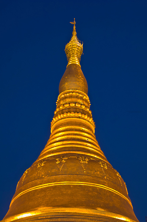 Shwedagon Pagoda at night, Yangon, Myanmar (Burma)