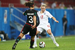 17.07.2010,  Augsburg, GER, FIFA U20 Womens Worldcup, England vs Mexico,  im Bild Garciamendez Alina (Mexico Nr.3) und Isobel Christiansen (England Nr.17) , EXPA Pictures © 2010, PhotoCredit: EXPA/ nph/ . Straubmeier+++++ ATTENTION - OUT OF GER +++++ / SPORTIDA PHOTO AGENCY