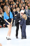 Cara Delevingne, Karl Lagerfeld PARADE ' CHANEL ' AT THE FASHION WEEK IN PARIS<br /> ©Exclusivepix Media