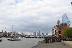 London skyline, April 2019 UK. One Blackfriars & Oxo Tower on the right