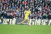 Chelsea defender David Luiz (30) runs with the ball during the Premier League match between Crystal Palace and Chelsea at Selhurst Park, London, England on 30 December 2018.