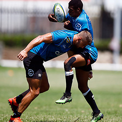 Jeremy Ward tackling Grant Williams of the Cell C Sharks during The Cell C Sharks training session 26 November 2019 at Jonsson Kings Park Stadium in Durban, South Africa. (Photo by Steve Haag)<br /> <br /> images for social media must have consent from Steve Haag Sports