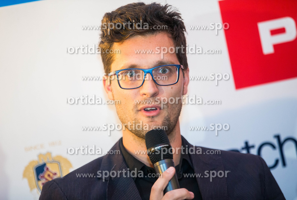 Miha Mlakar  during press conference prior to the Slovenian Tennis personality of the year 2017 annual awards presented by Slovene Tennis Association Tenis Slovenija, on November 29, 2017 in Siti Teater, Ljubljana, Slovenia. Photo by Vid Ponikvar / Sportida