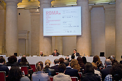 ROMA. Road to contemporary art - artfair press conference at Adriano Temple in Rome