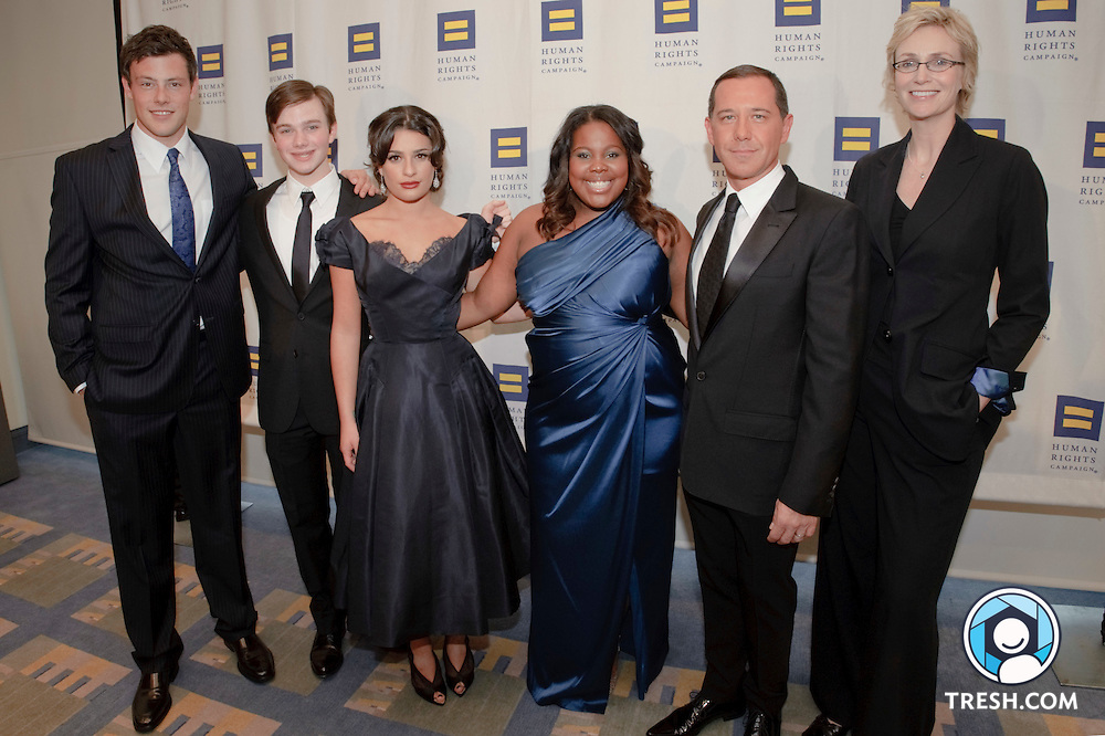 The cast of Gee prior to the 13th Annual HRC National Dinner, Saturday, October 10, 2009, in Washington, DC.