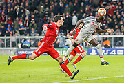 GOAL 1-3 Liverpool forward Sadio Mane (10) heads in Liverpool's third goal during the Champions League match between Bayern Munich and Liverpool at the Allianz Arena, Munich, Germany, on 13 March 2019.