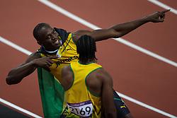 05-08-2012 ATLETIEK: OLYMPISCHE SPELEN 2012: LONDEN<br /> Gold Medal Usain Bolt (JAM) during Men 100m Final <br /> ***NETHERLANDS ONLY***<br /> ©2012-FotoHoogendoorn.nl
