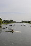 Gent, BELGIUM,  General views,   Starting area  International Belgian Rowing Championships, Saturday 09/05/2009, [Mandatory Credit. Peter Spurrier/Intersport Images]