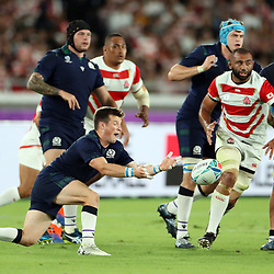 George Horne of Scotland during the Rugby World Cup Pool A  match between Japan and Scotland, Pool A at the International Stadium Yokohama,Yokohama City Saturday 13th October  2019 (Mandatory Byline Steve Haag Sports Hollywoodbets)