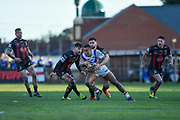 Reece Lyne (4) of Wakefield Trinity during the Betfred Super League match between Wakefield Trinity Wildcats and Warrington Wolves at Belle Vue, Wakefield, United Kingdom on 16 February 2020.