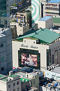Yongdusan Park. Busan Theatre ad seen from Busan Tower.