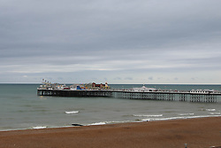 © Licensed to London News Pictures. 04/10/2014. Brighton, UK. Wind and rain is expected to lash much of the South throughout the weekend. Temperatures are expected to reach 18C in Brighton and the South coast. Photo credit : Hugo Michiels/LNP