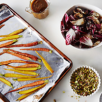carrot and pistachio salad with figs