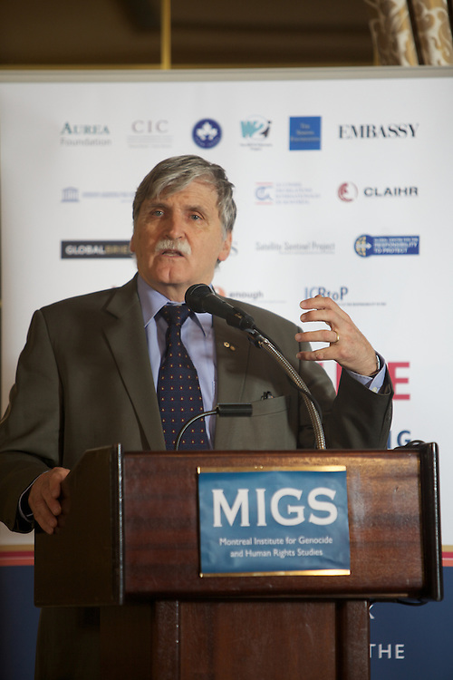MIGS Conference 2011..End of the conference and concluding remarks by the Honourable Roméo Dallaire..From the press release:..Some of the world's foremost experts on the role of media in preventing mass atrocities will bring their latest insights to the upcoming conference, The Promise of Media in Halting Mass Atrocities: A Conference to Mark the 10th Anniversary of the Responsibility to Protect (R2P). Concordia University's Montreal Institute for Genocide and Human Rights Studies (MIGS) is organizing the conference, which takes place October 20 and 21 at the Mount Stephen Club (1440 Drummond St.). 