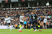 Derby County forward Tom Lawrence (10) shoots at goal during the EFL Sky Bet Championship match between Derby County and Leeds United at the Pride Park, Derby, England on 11 May 2019.