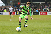 Forest Green Rovers Elliott Frear(11) controls the ball during the Vanarama National League match between Bromley FC and Forest Green Rovers at Hayes Lane, Bromley, United Kingdom on 7 January 2017. Photo by Shane Healey.