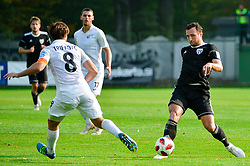 Spiro Pericic of NS Mura vs Damjan Trifkovic of NK Rudar Velenje during football match between NS Mura and NK Rudar Velenje in 13th Round of Prva liga Telekom Slovenije 2018/19, on October 20, 2018 in Mestni stadion Fazanerija, Murska Sobota , Slovenia. Photo by Mario Horvat / Sportida