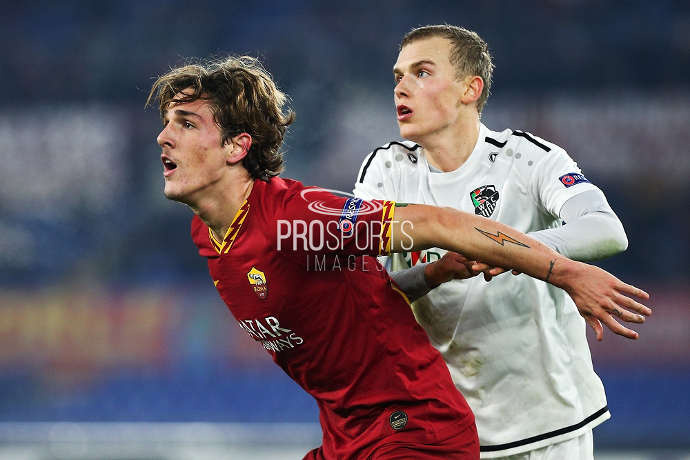 Nicolo' Zaniolo of Roma in action during the UEFA Europa League, Group J football match between AS Roma and Wolfsberg AC on December 12, 2019 at Stadio Olimpico in Rome, Italy - Photo Federico Proietti / ProSportsImages / DPPI